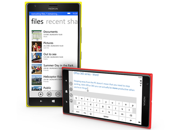 Nokia Lumia 1520 с Microsoft Office Word