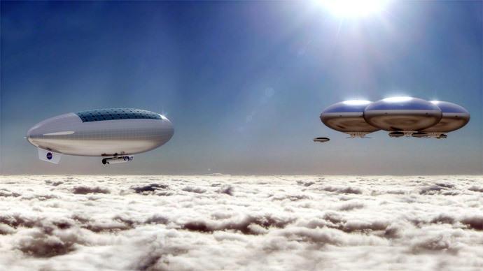 NASA планирует построить в облаках Венеры летающий город