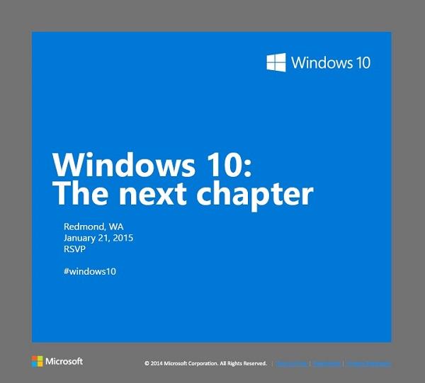 21.01.2015. Windows 10: следующая глава