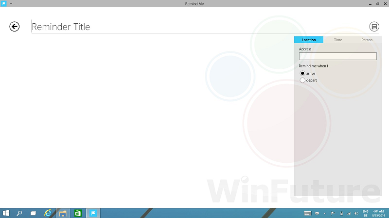 Windows 9: Remind Me