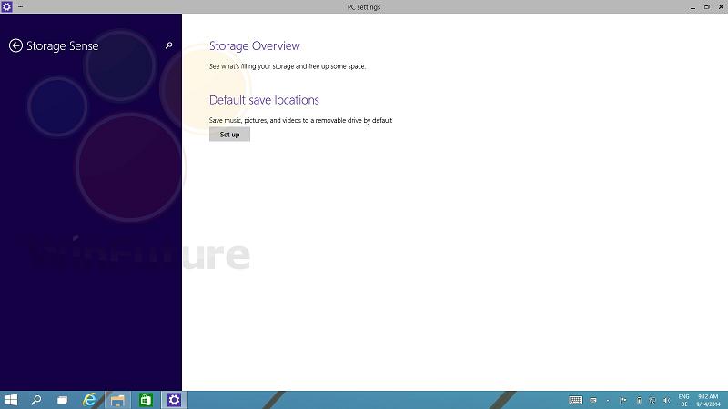 «Контроль памяти» в Windows 9